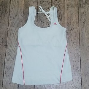 NWOT Adidas Clima365 White w/ Coral Accents Tank M